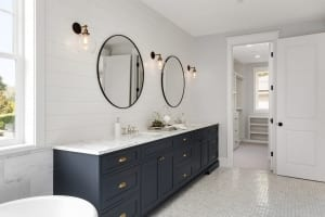 master bathroom in new home